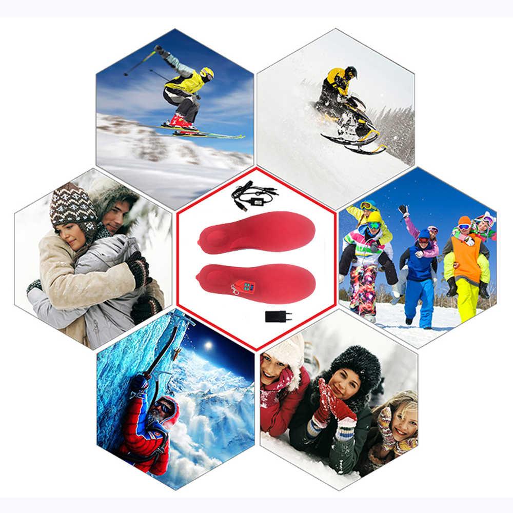 Yeni 2000mAh ısıtmalı tabanlık kış ayak ısıtıcı USB şarj edilebilir ısıtma tabanlık erkek kadın ayakkabı pedleri avcılık kayak yürüyüş