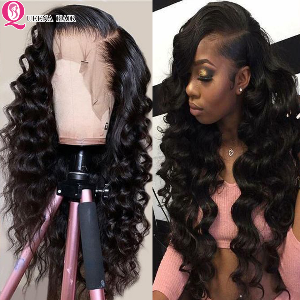 Loose Deep Wave Lace Front Human Hair Wigs For Black Women  Brazilian 13x6 13x4 Transparent Lace Front Wig Pre Plucked Remy 150%