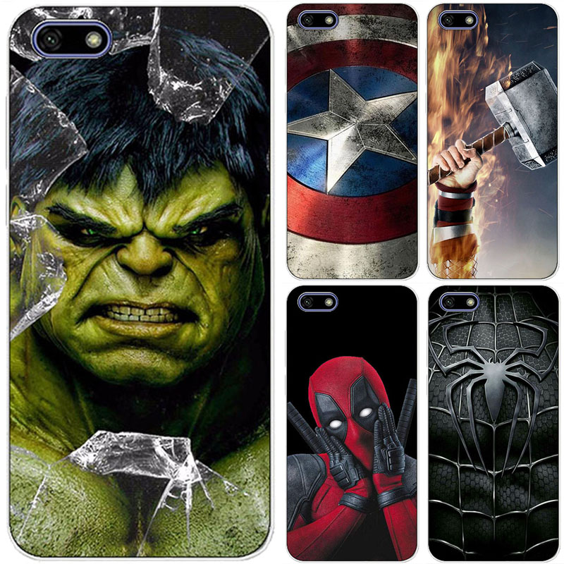 Чехол для телефона с супергероем для Huawei Honor 7 7i 7X 7A Pro ATU-L21 7S Superman Back Cover Bags Fundas Shell