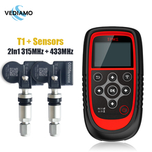 T1 TPMS Programming Universal with 2 In 1 315/433Mhz Tyre Pressure Sensors Key Fob Programmer Lifetime Free Upgrade