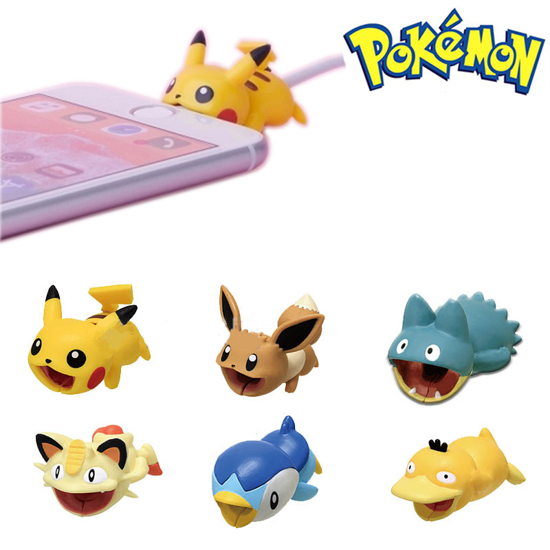 Pokemon USB Protective Case Cable Bite Cosplay Accessory Protects Animals Chompers Smart Cover Pikachu