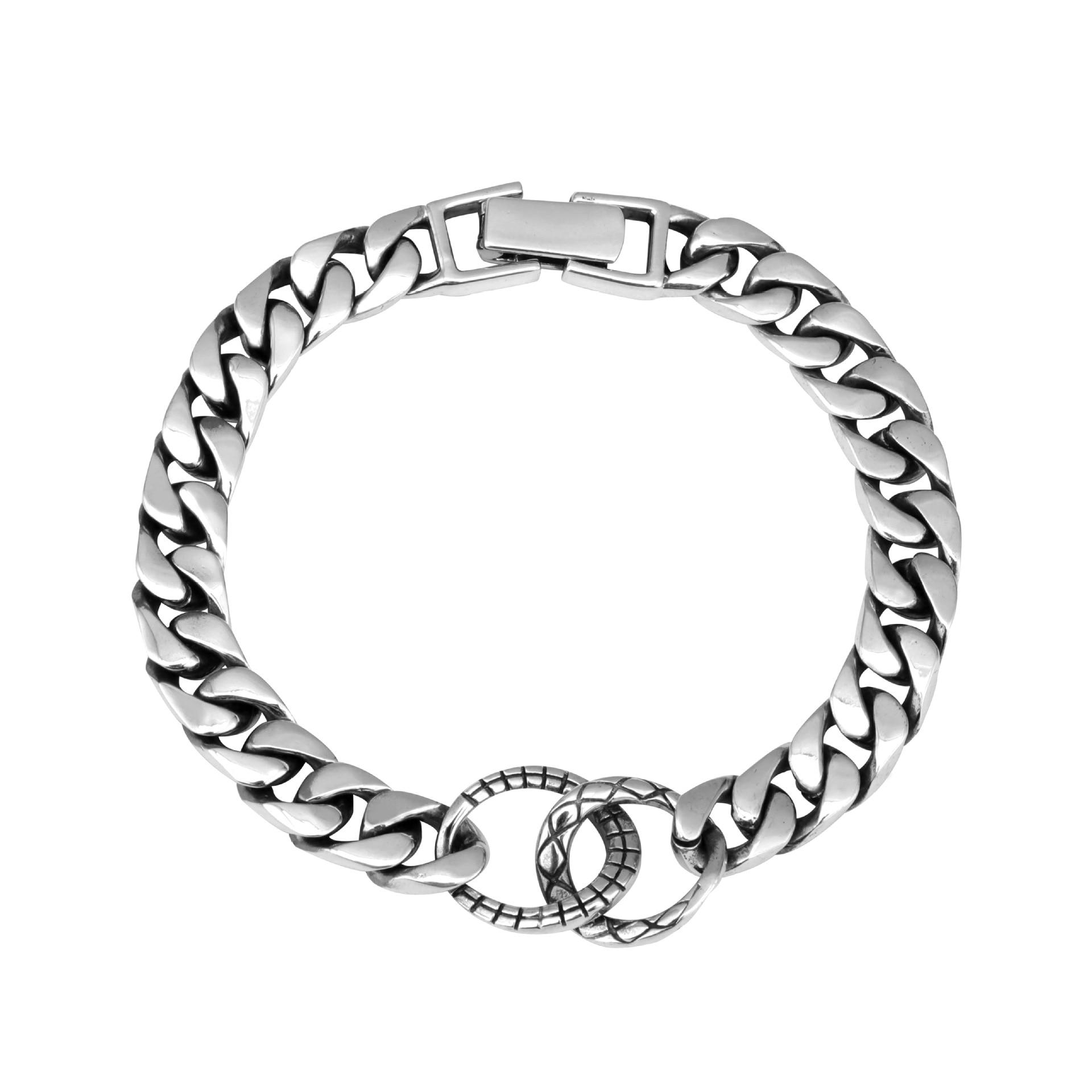925 стерлингового серебра браслет пара простой дизайн ретро мода индивидуальный стиль ювелирных изделий, чтобы отправить подарки для любителей 2019 Лидер продаж - 5