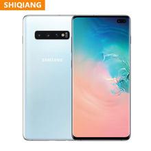 Verwendet Original Samsung Galaxy S10 + S10 Plus 128GB 512GB Entsperrt Handy Snapdragon 855 Octa Core 6.4