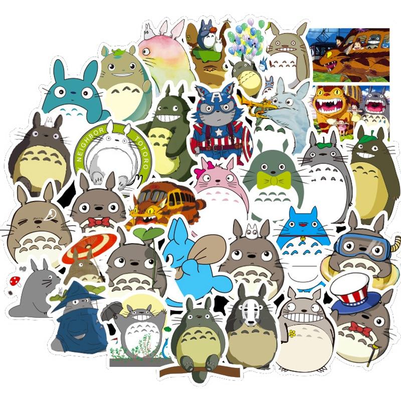 Стикеры аниме Kawaii Totoro, Мультяшные водонепроницаемые наклейки для скейтборда, холодильника, гитары, ноутбука, мотоцикла, чемодана, 10/30/50 шт.