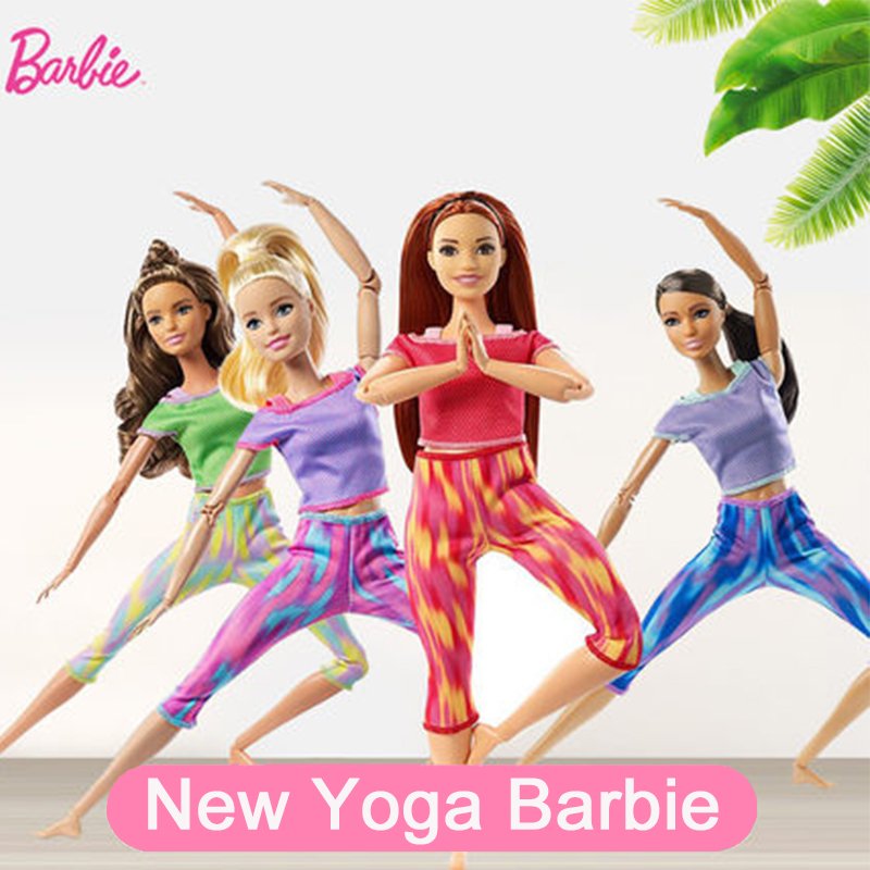 Yoga Barbie Doll Original Made To Move Doll Toys for Girls Jointed Dolls Sport Barbie Clothes for Dolls Girls Toys Gift