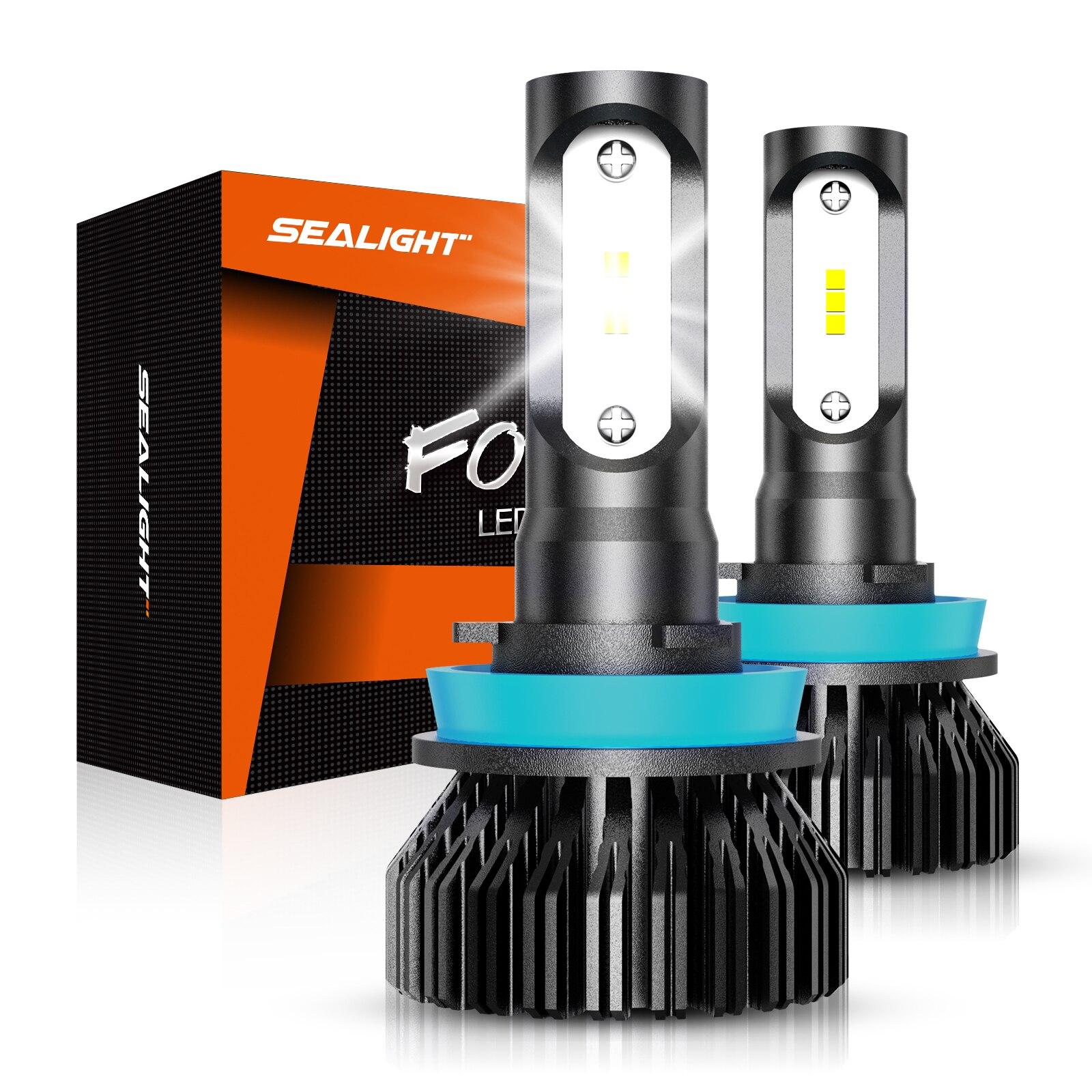 Сигнальный фонарь H11 светодиодный Противотуманные фары 4800lm H8 H9 H16 светодиодный Противотуманные фары лампы высокого Мощность 12 CSP светодиодн...