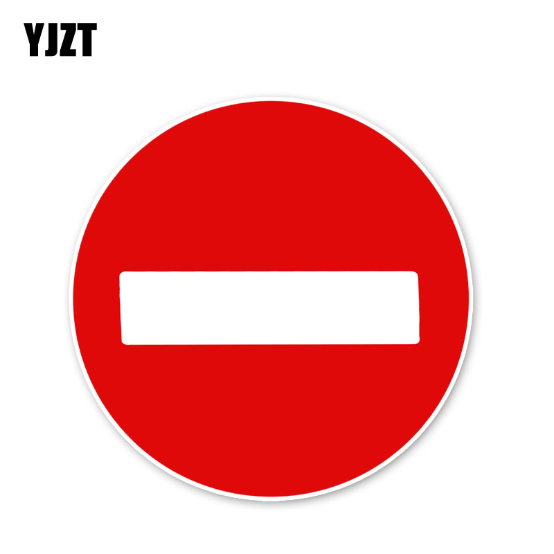 YJZT 12.2*12.2CM Pay Attention To Traffic Safety Signs Car Stickers Accessories C30-0223
