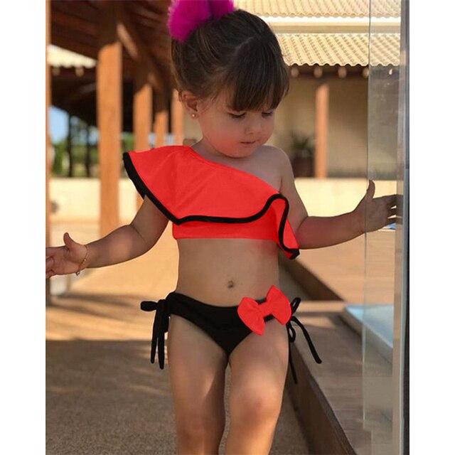 Traje de baño de dos piezas para niña y bebé, traje de baño deportivo para el agua para verano, Bikini, traje de baño para playa, 2020