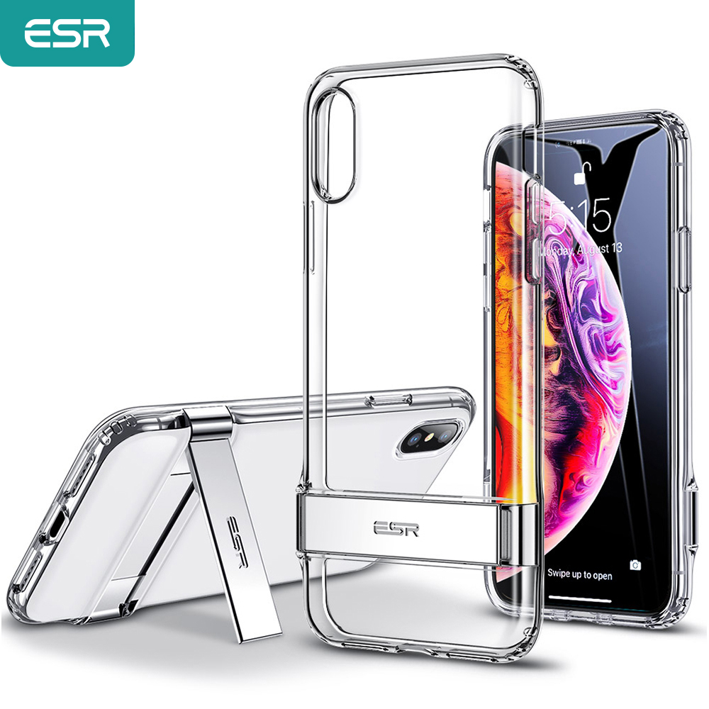 Iphone Xs Case | ESR Case For IPhone X XS XR/XS Max/SE 2nd 2020/11 Pro Max 2019/8 7 Plus Metal Kickstand Case Vertical And Horizontal Stand Case