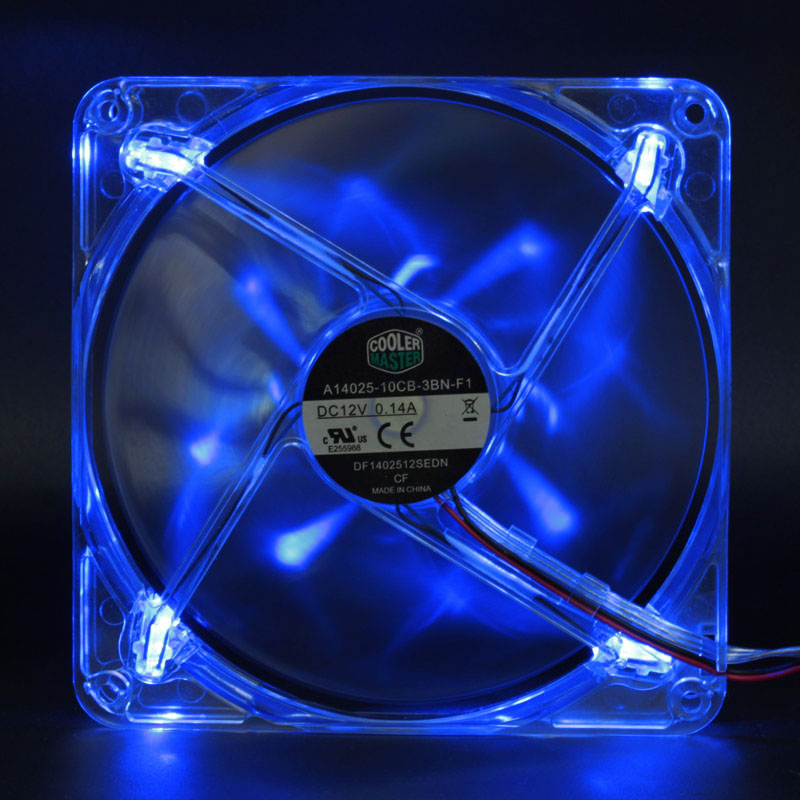 <font><b>140mm</b></font> LED cooling <font><b>fan</b></font> computer <font><b>fan</b></font> a14025-10cb-3bn-f1 14cm 12V 0.14a 1000RPM silence quiet LED luminous cooling <font><b>fan</b></font> image