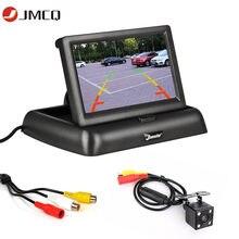 JMCQ 4.3 calowy wyświetlacz HD składany Monitor do samochodu TFT LCD kamery odwrócony ekran aparatu System parkowania na wyświetlacz tyłu samochodu monitory