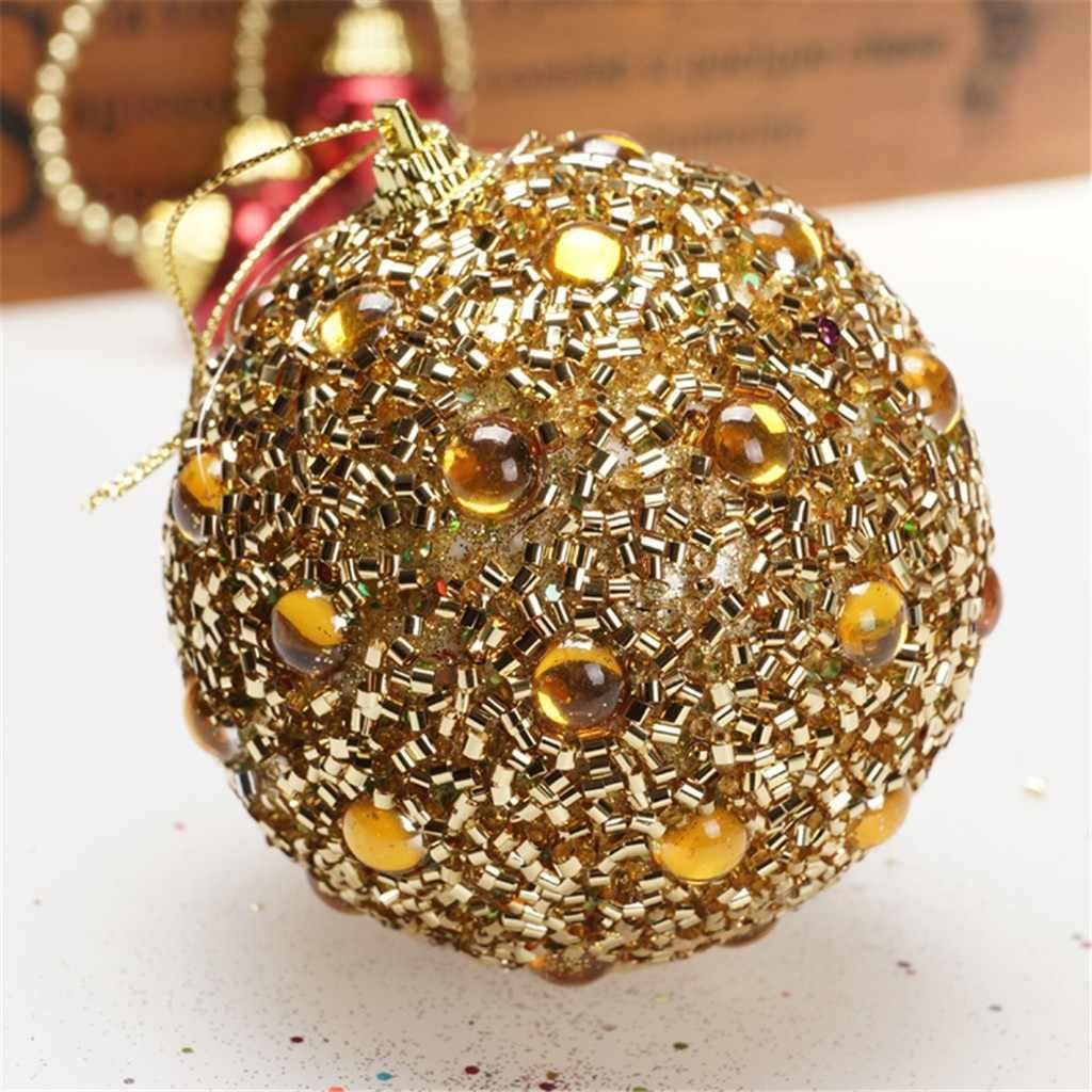 Christmas Ball Xmas wiszące ozdoby na choinkę zawieszki Rhinestone Glitter Disco okrągłe bombki ozdoba na choinkę @ 40