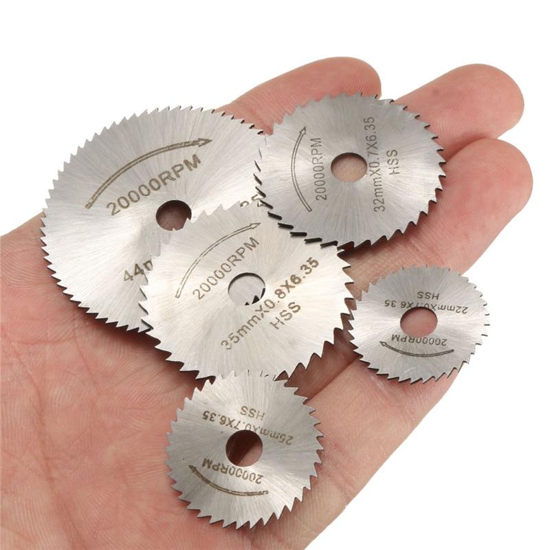 6pcs/set Mini Cutter Power Tool HSS Circular Saw Blade Rotary Tool Set Wood Cutting Discs Drill Mandrel Cutoff For Dremel Metal
