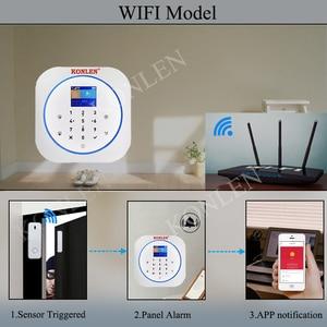 Image 3 - KONLEN Tuya WIFI GSM Alarm System Wireless Pir Motion Sensor Tür Detektor Für Home Security Smart Leben APP Google Alexa unterstützung