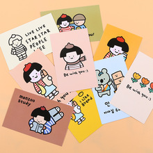 Decoration Postcard Photo-Props Wall-Sticker Waterproof-Card Forest Girl Ins 9pcs/Pack