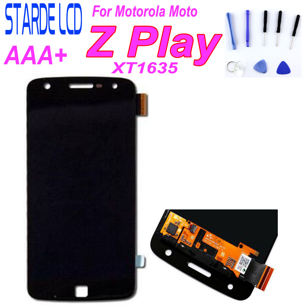 STARDE Replacement <font><b>LCD</b></font> For Motorola Moto Z Play <font><b>XT1635</b></font> <font><b>LCD</b></font> Display Touch Screen Digitizer Assembly 100% Test Well with Free Tool image
