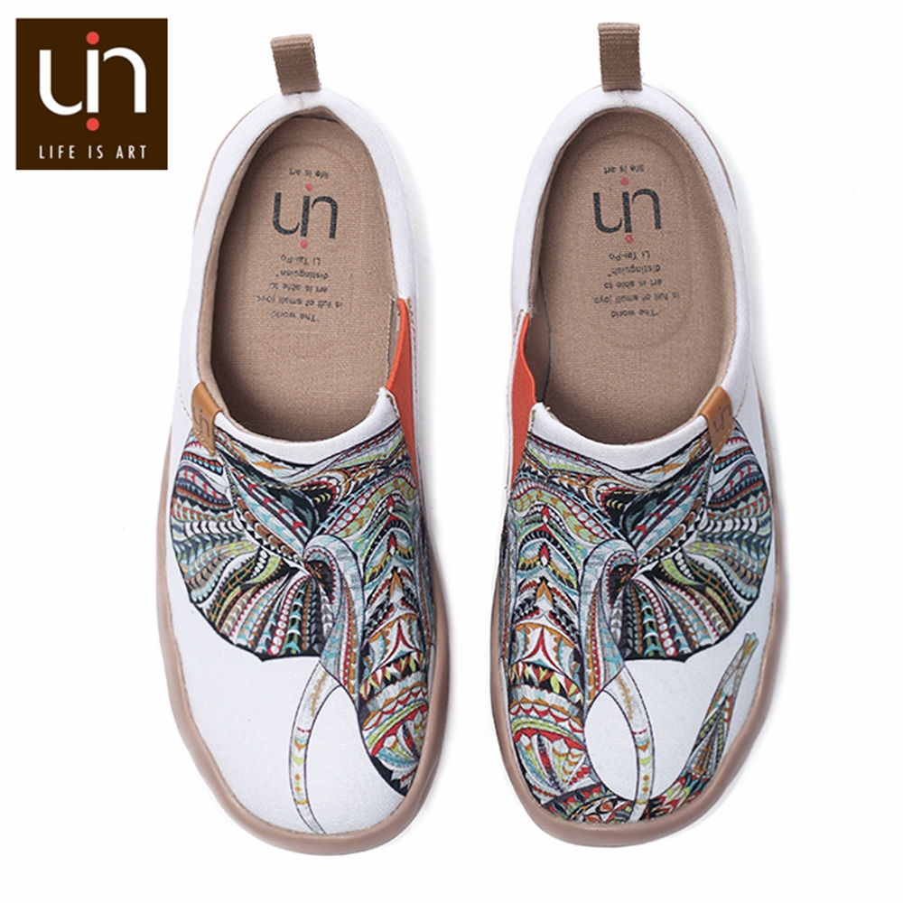 Instantarts Red Lip Print Casual Slip On Walking Loafer Shoes Canvas Ballet Flat