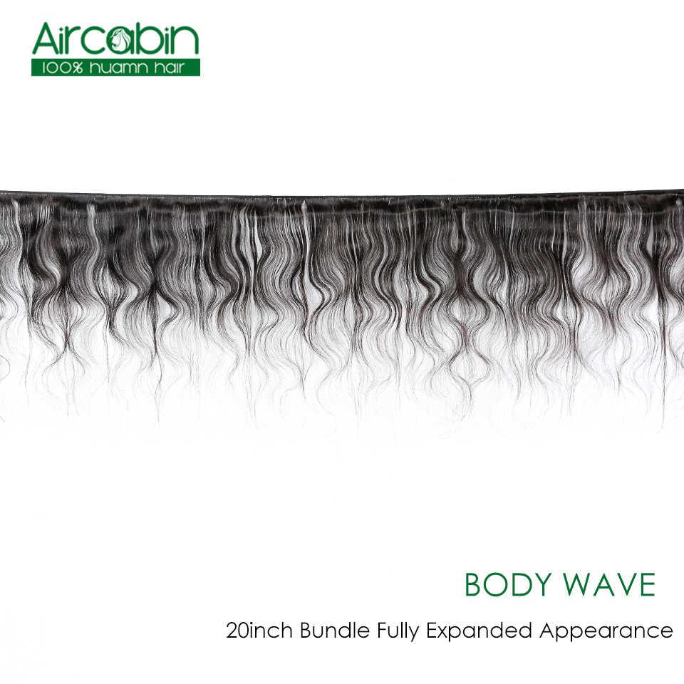 """Aircabin brezilyalı vücut dalga % 100% İnsan saç demetleri örgüleri Remy saç ekleme doğal renk 8 """"-26"""" inç 1 /3/4 parça/paket"""