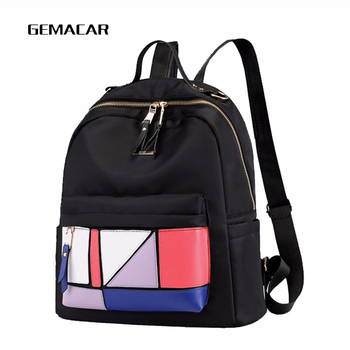 Fashion Color Female Backpack Summer New Woman Lightweight Bagpack Youth Student Bag Shopping Daily Wild Cloth