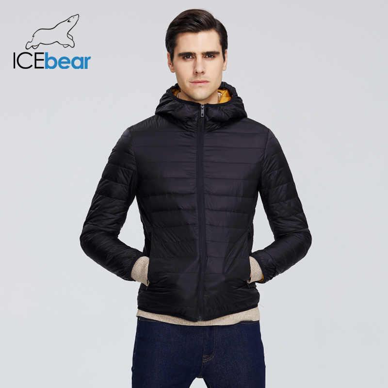ICEbear 2020 חדש קל משקל של גברים למטה מעיל אופנתי מזדמן גברים מעיל זכר סלעית מעיל מותג גברים בגדי MWY19998D