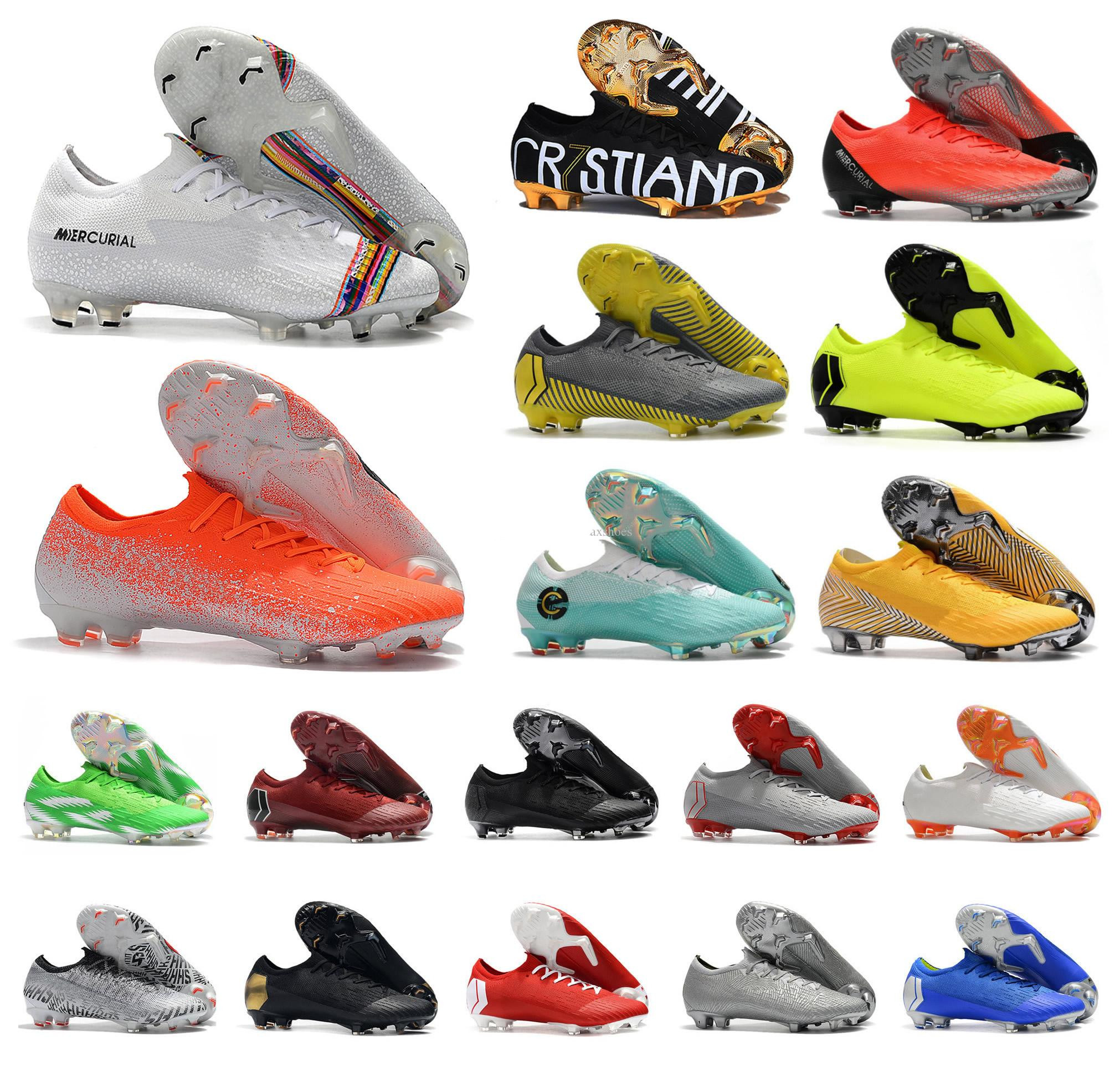 Hot Superfly VI <font><b>360</b></font> Elite FG KJ 6 XII 12 CR7 Ronaldo Neymar Mens Women Boys High Soccer <font><b>Shoes</b></font> Football Boots Cleats image