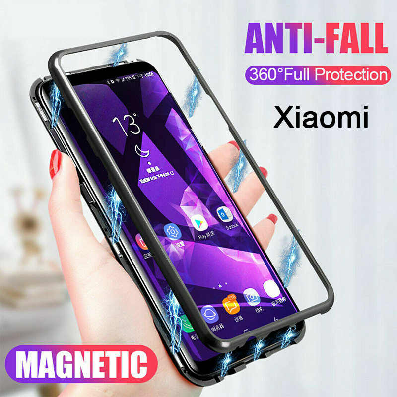Magnetic Adsorption Metal Bumper Case for Xiaomi Pocophone F1 Luxury Phone Case for Xiaomi Mi 9 SE 9T Pro 8 Lite Cover