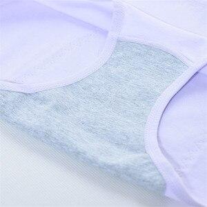 Image 5 - الإناث مانعة للتسرب الحيض سراويل فترة الفسيولوجية الملابس الداخلية الدافئة القطن ملخصات للماء في Culotte Menstruelle