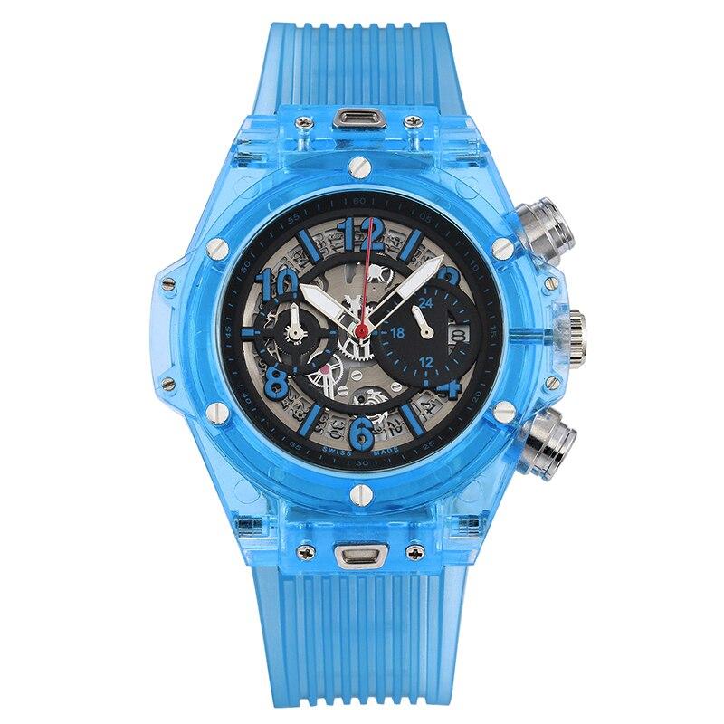 Image 5 - Full Transparent Watch Men Military Classic Silicone Sports  Quartz Chronograph Mens Watches Top Brand Luxury Relojes Hombre  2019Quartz Watches