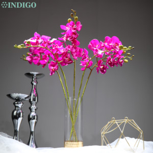 Image 3 - INDIGO  Phalaenopsis Butterfly White Orchid Real Touch Artificial Flower Office Wedding Moth Orchid Floral Party  Interior Trim