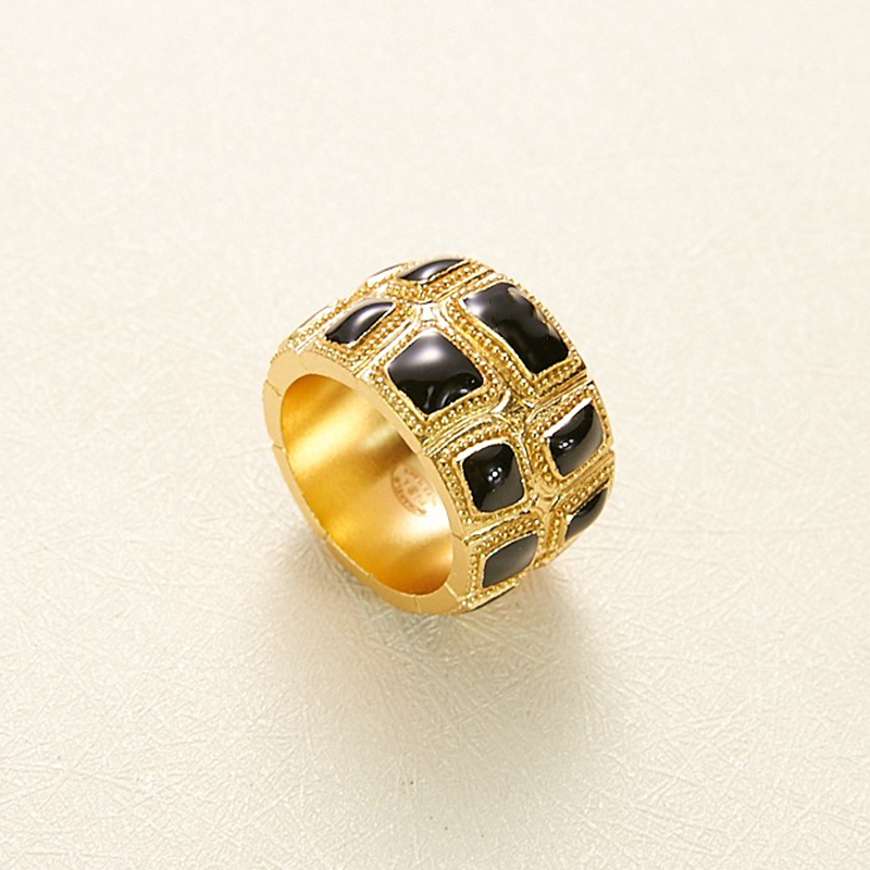 Image 3 - Hot Brand Fashion Copper Jewelry For Women Black Gold Color Rings Egyptian Pharaoh Deisgn Jewelry Fashion Light Gold Color RingsRings   -