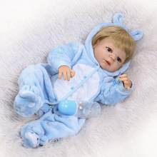 Realistic Reborn Baby Dolls Silicone Full Body Boy 57cm Anatomically Correct Washable Toy Handmade Gifts for Ages 3+(China)