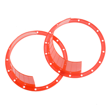 A Pair of 6.5 Inch Plastic Car Horn Spacer Stereo Speaker Waterproof Cover Protection Pad Accessories
