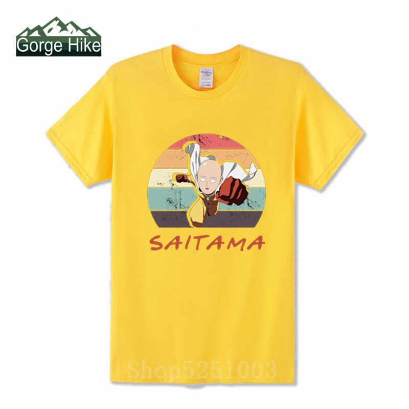 Camiseta de manga curta de algodão 100% dos homens do herói do ídolo um homem do soco lista diária t camisas saitama opm oppai anime manga curta
