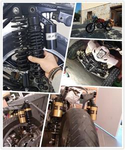 Image 5 - Amortisseur arrière pour moto, universel, 320mm 340mm 380mm 400 mm, de suspension, scooter, vélo, Gokart, Quad D30, moteur ATV