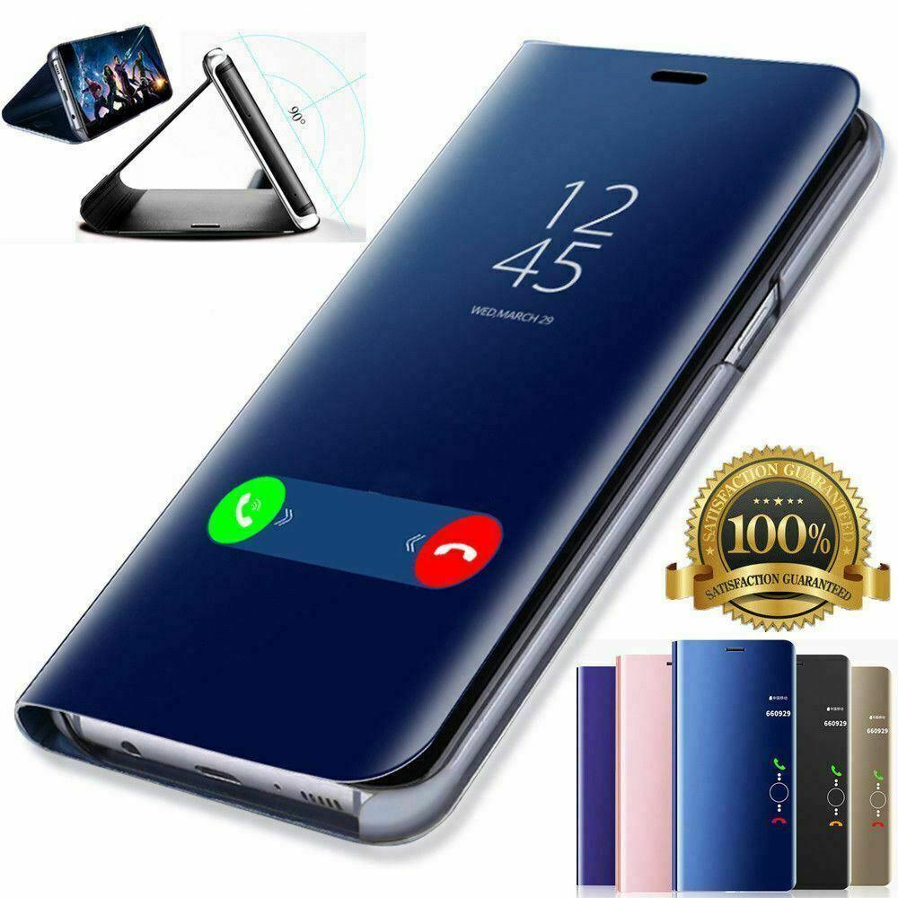 Clear View Smart Mirror Flip Case For Huawei P30 P20 Lite Pro Mate 20 X 10 9 P10 P9 Plus Nova 3 3i 4 4E 5 5i Phone Case Cover iphone 6 plus kılıf