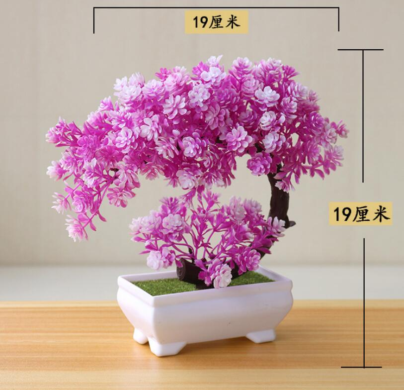 Ornaments Artificial Plant Bonsai Plastic Potted Small Fake Table Hotel Home Decor Tree Pot Garden Simulation Flowers Artificial