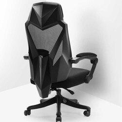 Fotel gamingowy WCG krzesło biurowe do komputera regulowana do rozmiaru głowy i podłokietników z stabilizator lędźwiowy wysokim oparciem z oddychającą siatką