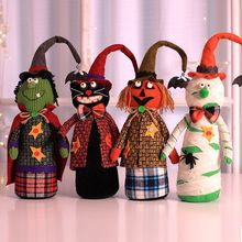 Cartoon Witch Ornament Exquisite Home Bar Halloween Fabric Doll Decorative Accessory Holida