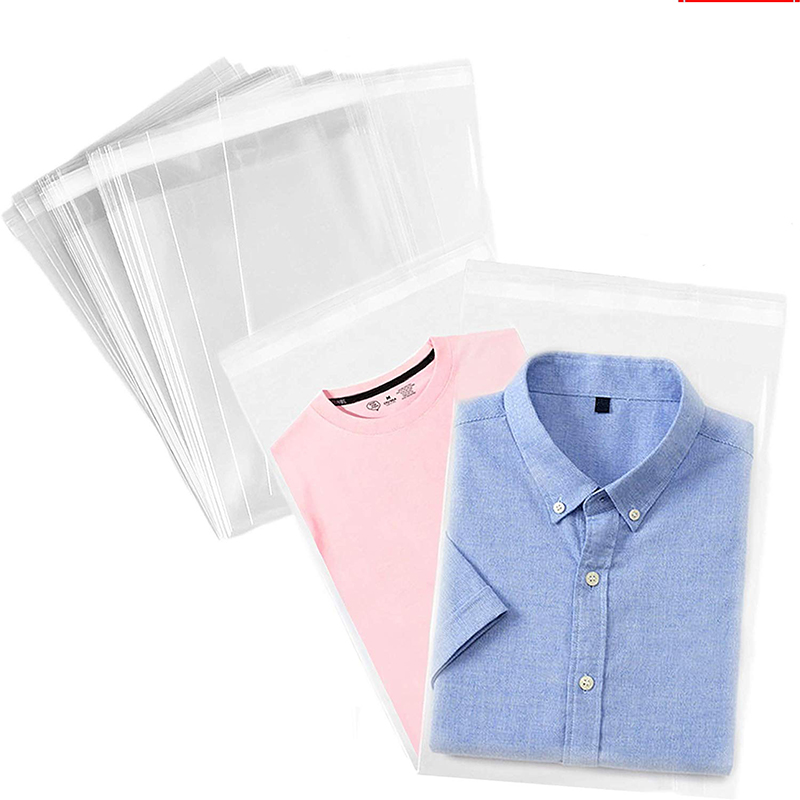 Clear Thick Self Adhesive Plastic Cellophane Bags Transparent Clothing Package Storage Bags Small Self Sealing OPP Poly Bag