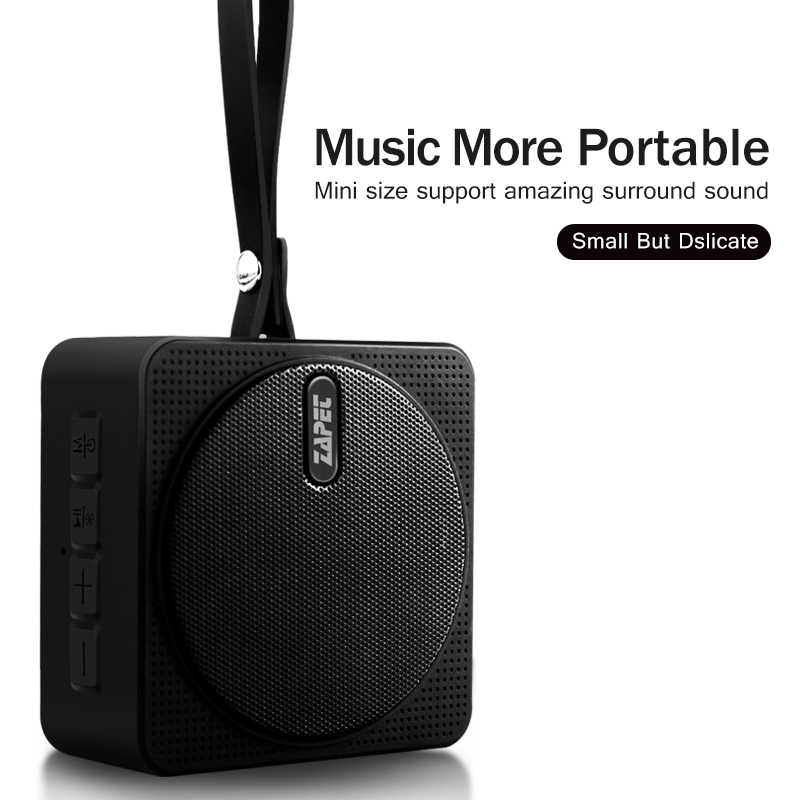 ZAPET C2 Outdoor Mini Bluetooth Speaker IPX6 Waterproof Portable Speaker with mic Bass Stereo Columns for iphone xiaomi phone