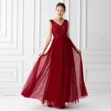 Sleeveless Evening Dresses Tulle With Beaded Evening Dresses A Line Long Top Beaded Formal Long Robe De Soiree Abendkleider