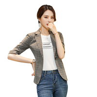 Fashion Casual Ladies Blazers Women Jackets Half Sleeve Business Clothes Female Elegant Formal Office Work Wear Uniform Styles
