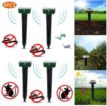 4PCS Ultrasonic Solar Repellent Repellent Snake Mouse Pest Repellent Anti-Mosquito Repel Snake Bird