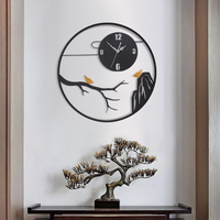 Creative Silent Wall Clock Modern Design Novelty Wrought Wall Clock Silent Kitchen Reloj De Cocina Household Products YY60WC