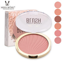 Miss Rose Enam Warna Matte Blush Rouge Blush Nude Makeup Bubuk Tahan Lama Alami Mencerahkan Warna Kulit Makeup(China)