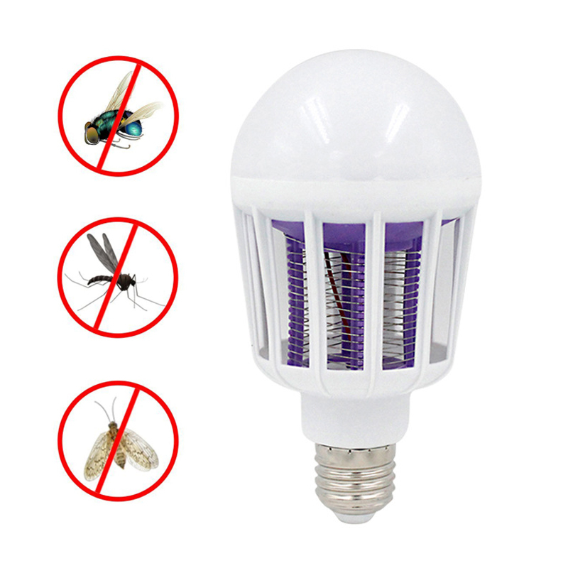 220V UV LED Bulb 9W Mosquito Killer Lamp 2 In 1 Mosquito Trap Insect Killer Light Bulb Fly Bug Zapper Night Light For Home Baby(China)