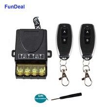 FunDeal Interruptor de Control remoto inalámbrico para bomba de agua, relé RF de 433Mhz, CA 220V, 1Ch 30A, módulo receptor y Control remoto de 2 botones