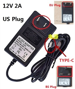 12V 2A TYPE-C Charger US Plug For CHUWI Hi13 Apollo SurBook Mini Surbook 12.3 inch MIX Plus Tablet PC(China)
