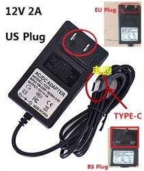 12V 2A TYPE-C Charger US Plug For CHUWI Hi13 Apollo SurBook Mini Surbook 12.3 inch MIX Plus Tablet PC