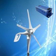 Turbinas eólicas de 400W, 12V/24V opcional + controlador de carga del generador de viento de 600W con indicador LED, freno automático y Manual
